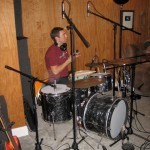 drummer Dave using his Bearing Edge snare drum for this session.